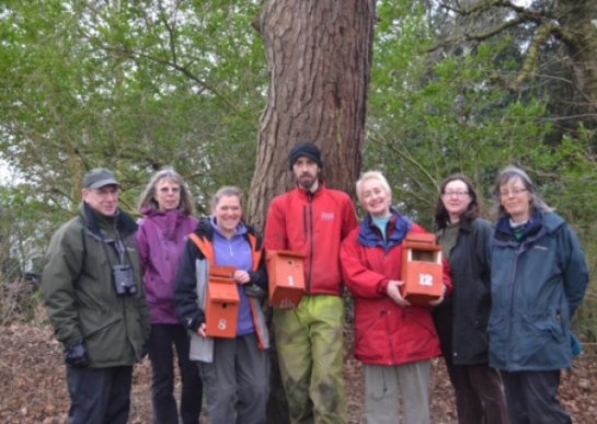 Park staff and Friends of Williamson Park prepare to install 50 new bird boxes in the Fenham Carr area of the park.