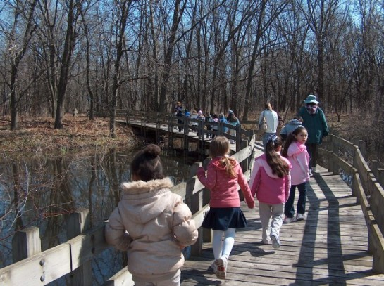 Gibson Woods provides a three-mile trail system for visitors.