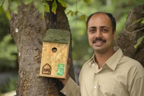 A FRIEND OF SPARROWS: Bhavin Shah Photo: K. Ananthan