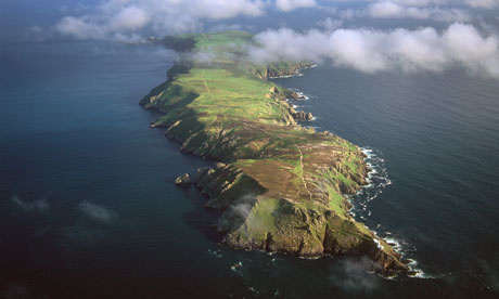The island of Lundy, in the Bristol Channel. Photograph: Robert Harding Picture Library/Alamy